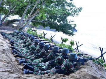 Pasmar 3 dalam Latihan Operasi Pertahanan Pantai Koarmada III TA 2020