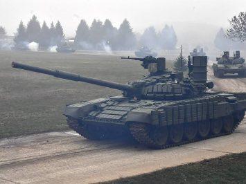 Serbia perlihatkan sosok terbaru T-72B1MS White Eagle buatan Rusia