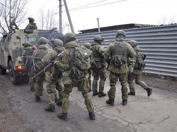 pasukan khusus distrik militer selatan Rusia