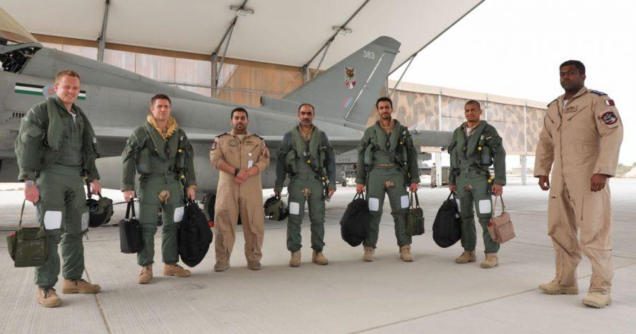RAF-QEAF Typhoon pilots