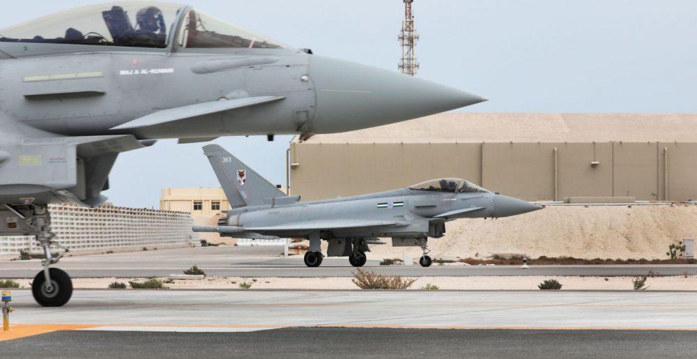 RAF-QEAF Typhoons