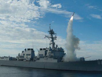 USS preble luncurkan rudal Tomahawk