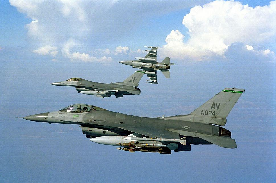 F-16s from Aviano Air Base