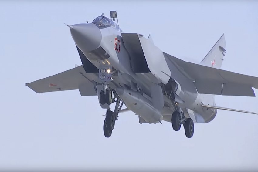 MiG-31 with Kinzhal missile