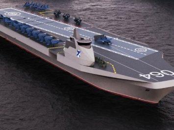 Kapal induk universal rancangan Nevsky untuk AL Rusia