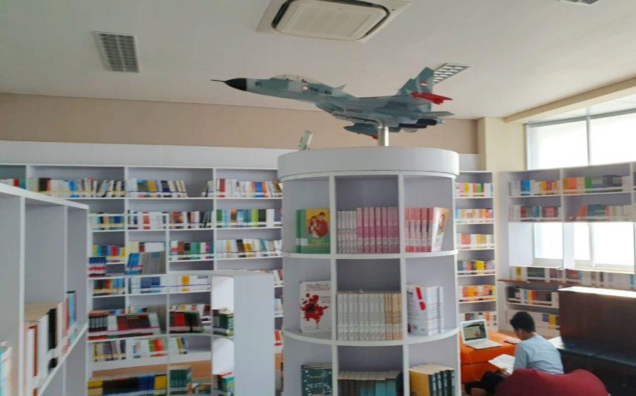 ruang perpustakaan SMA Pradita Dirgantara