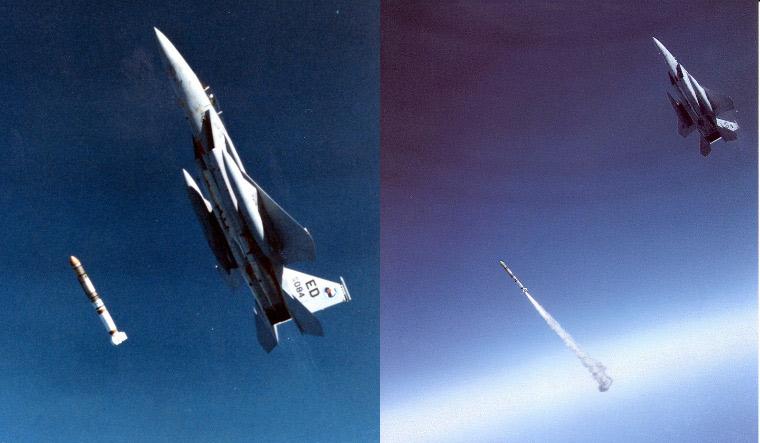 F-15A luncurkan rudal antisatelit
