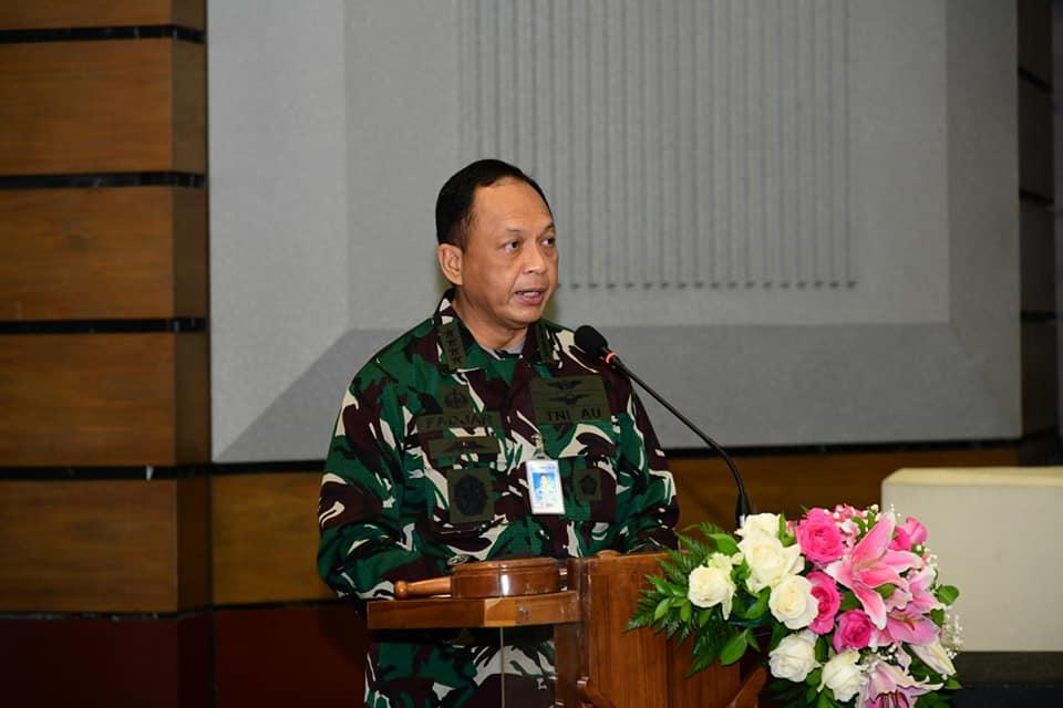 KSAU Marsekal TNI Fadjar Prasetyo di Rapim TNI AU 2021