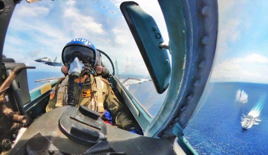Su-27 dan Su-30 Skadron Udara 11 melaksanakan Operasi Gabungan di ALKI II