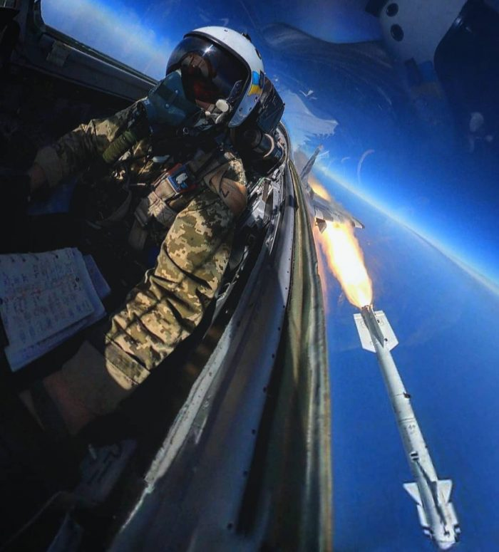 R-73 missile fired from MiG-29