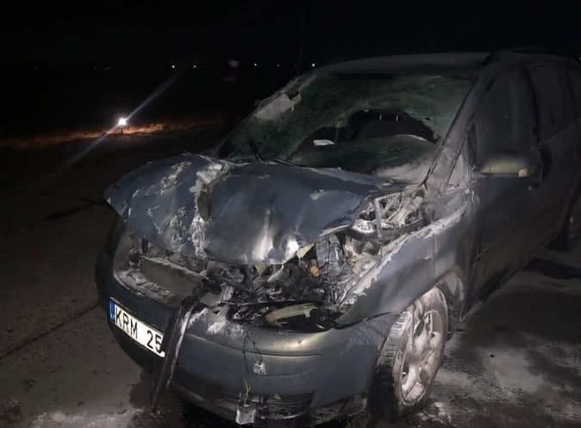 car collided with ukraine MiG-29