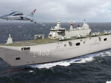 Turki akan kembangkan Hürjet varian kapal induk TCG Anadolu