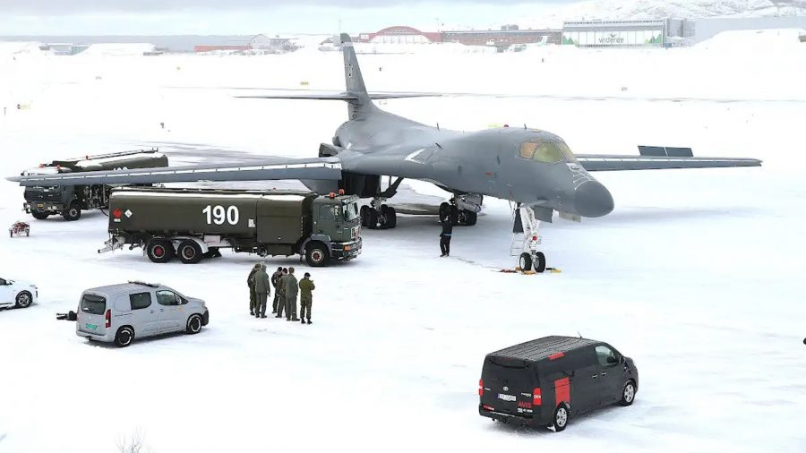 USAF B-1B in Norway