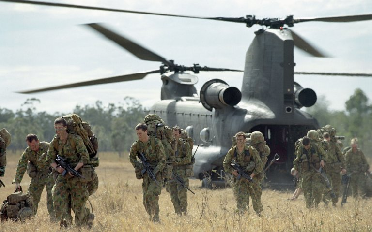 Australian Chinook helicopter