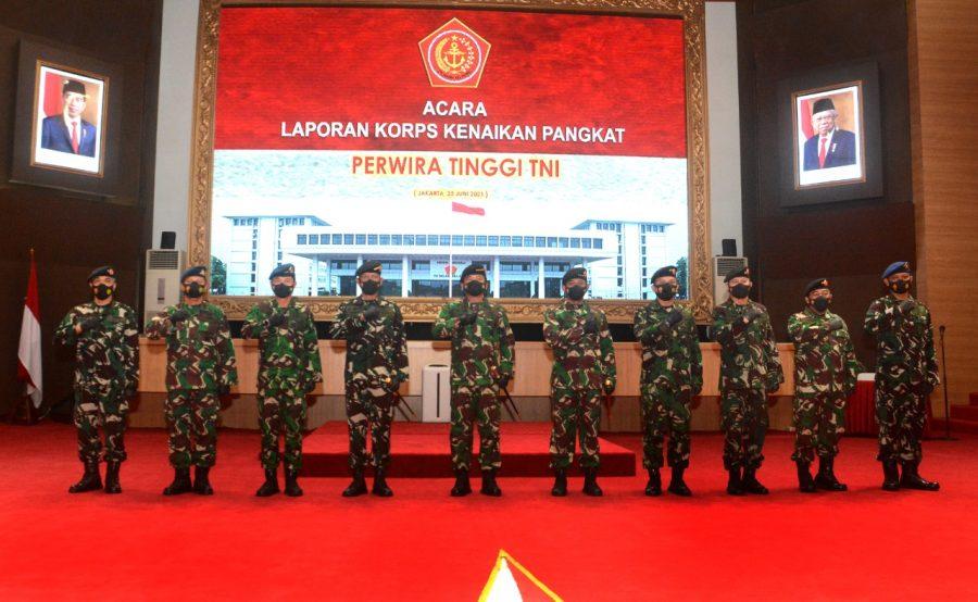 Laporan Korps Kenaikan Pangkat Danjen Akademi TNI
