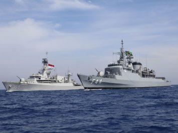 KRI Usman Harun dan kapal perang AL Brasil