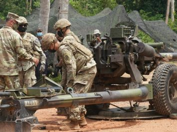 M119A1 towed howitzer