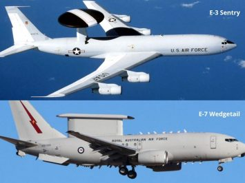 E-3 Sentry and E-7 Wedgetail