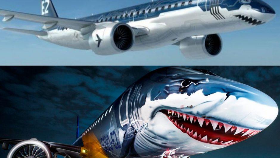 E190-E2 Tech Shark, pesawat sipil bercorak garang dari Embraer