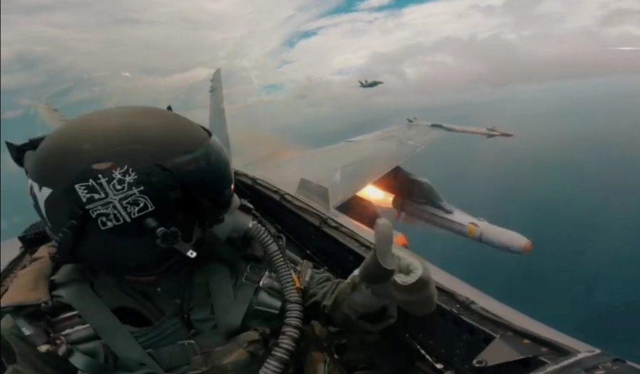Hornet TUDM luncurkan rudal dalam Eksesais Abail 2021