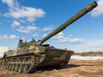 Tank ringan Sprut dijatuhkan dari menara untuk menguji kekuatannya