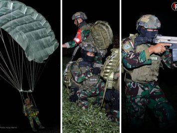 Prajurit Yontaifib Pasmar 2 Korps Marinir laksanakan Junpur Malam