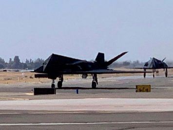 Twi F-117 at Fresno Airport