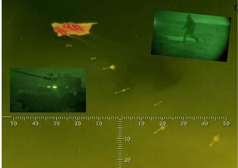 Zapad-2021 airborne troopers night landing