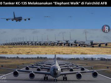 "20 tanker KC-135 melaksanakan ""Elephant Walk"" di Fairchild AFB"
